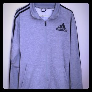 Adidas Climawarm Gray With Black Strip Sweater Men